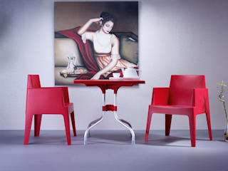 For table rouge par Coffee Meuble:  de style  par Coffee Meuble