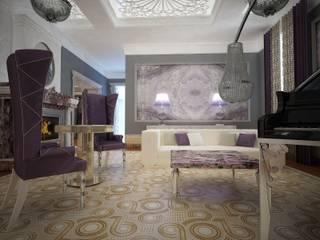 Квартира сердце Санкт-Петербурга Гостиная в классическом стиле от Лаборатория Дизайна Классический
