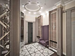 """ЖК """"Престиж"""" Коридор, прихожая и лестница в классическом стиле от Лаборатория Дизайна Классический"""