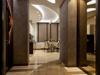 """ЖК """"Клевер"""" Коридор, прихожая и лестница в модерн стиле от Лаборатория Дизайна Модерн"""