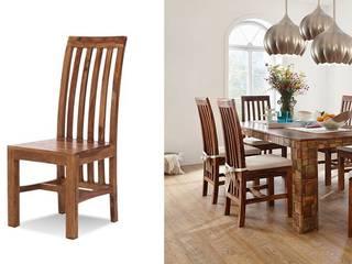Stuhl Quadrat Palisander Honig massiv Holz gewachst Möbel Wohnzimmer Esszimmer:   von Moebelkultura.DE