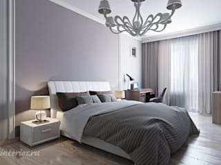 Студия интерьера 'SENSE' Eclectic style bedroom Purple/Violet