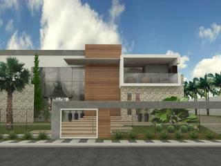 RESIDÊNCIA RIVA Casas modernas por THAYANA NIEBISCH ARQUITETURA E INTERIORES Moderno