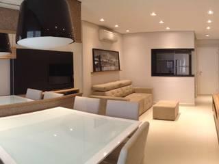 Sala integrada: Salas de jantar  por Arquiteto em Casa