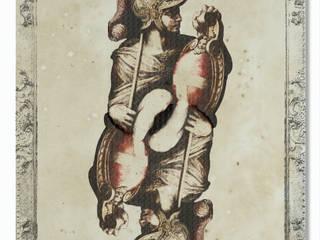 Carte d'Arte Soggiorno eclettico di lunosa Eclettico