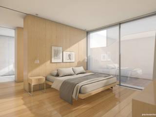 Bela Houses: Quartos  por paulosantacruz.arquitetos