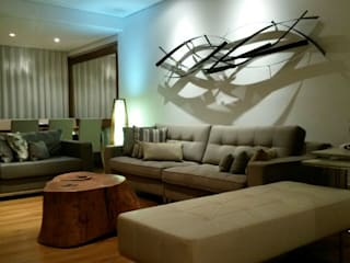 Nowoczesny salon od Fernanda Bahia Arquitetura e interiores Nowoczesny