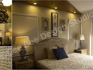 2 BHK Apartment in Kolkata Country style bedroom by Cee Bee Design Studio Country