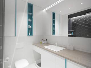 PROJEKT ŁAZIENKI W WARSZAWIE. Nowoczesna łazienka od AAW studio Nowoczesny