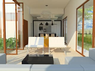 Casa Evolutiva 01 Livings modernos: Ideas, imágenes y decoración de Tony Santos Arquitetura Moderno