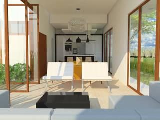 Casa Evolutiva 01 Moderne woonkamers van Tony Santos Arquitetura Modern