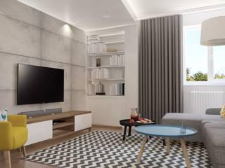 Projekt mieszkania w Darłowie Eklektyczny salon od Jankowska Design Eklektyczny