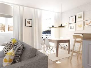 Projekt mieszkania w Darłowie Eklektyczna jadalnia od Jankowska Design Eklektyczny