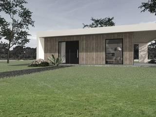 projekt domu letniskowego Nowoczesne domy od Pracownia Projektowa 4MAT Wojciech Balcerzak Nowoczesny
