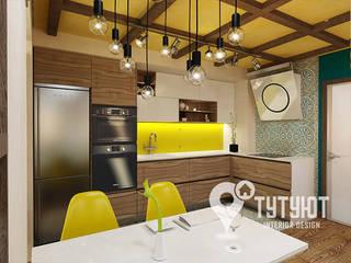 Лофт на грани в ЖК Адмиральский Кухни в эклектичном стиле от Interior Design Studio Tut Yut Эклектичный