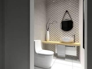 projekt wnętrz domu jednorodzinnego Nowoczesna łazienka od Pracownia Projektowa 4MAT Wojciech Balcerzak Nowoczesny