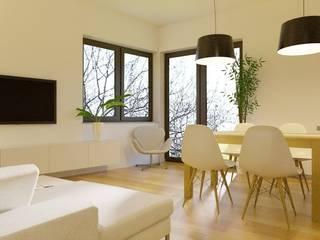 projekt mieszkania Skandynawska jadalnia od Pracownia Projektowa 4MAT Wojciech Balcerzak Skandynawski