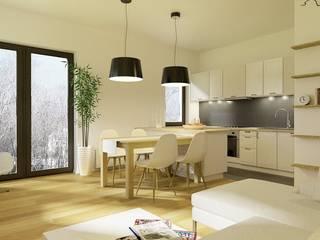 projekt mieszkania Skandynawska kuchnia od Pracownia Projektowa 4MAT Wojciech Balcerzak Skandynawski