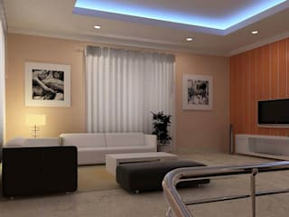 Hall Area:  Living room by Anmol Decore