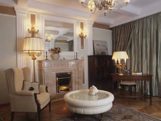Квартира в стиле ампир: Гостиная в . Автор – Guseva-style