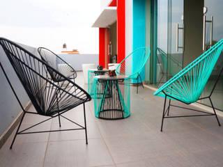 Terraza | Oficinas Tik: Terrazas de estilo  por CÉRVOL
