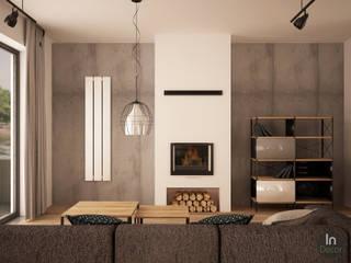 Projekt salonu: styl , w kategorii Salon zaprojektowany przez InDecor Agnieszka Ligęza