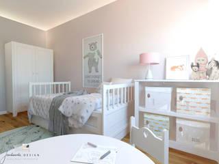 Pokój Zeldy Skandynawski pokój dziecięcy od Jankowska Design Skandynawski