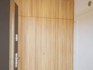 Dom jednorodzinny akw Nowoczesny korytarz, przedpokój i schody od Szalbierz Design Nowoczesny