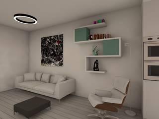 living: Soggiorno in stile in stile Moderno di RDstudioarchitettura - daniele russo architetto