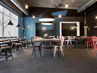 Restaurantes de estilo  por Studio Uwe Gaertner Interior Design & Photography, Industrial