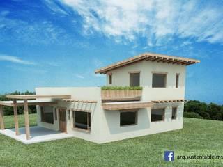 Rustic style house by Arq Magdalena Saravia - Estudio de Arquitectura Sustentable - Rustic