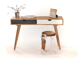 Mobilier scandinave sweet mango ChambreCoiffeuses Bois massif Gris