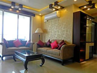 3 BHK Apartment in Bengaluru Modern living room by Cee Bee Design Studio Modern