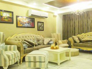 3 BHK Apartment Bengaluru Modern living room by Cee Bee Design Studio Modern