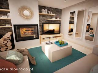 Andreia Louraço - Designer de Interiores (Email: andreialouraco@gmail.com) Salas de estilo moderno Gris