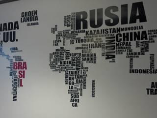 Vinilo mapamundi de letras de Quiero Mi Vinilo Moderno