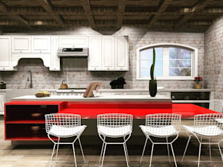 Country style kitchen by MV Arquitetura e Design Country