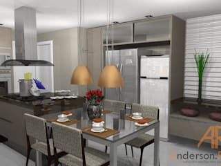 Cozinha alto padrão: Cozinhas  por Anderson Roberto  - Soluções Inteligentes para Ambientes
