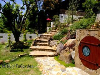 ホビットの庭 モダンな庭 の グリーンテラス & 風雅伝 モダン