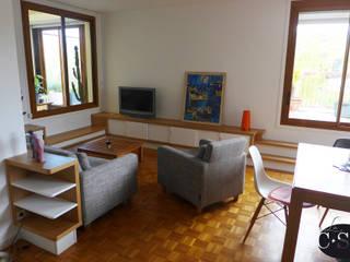 Salas de estilo moderno de La C.S.T Moderno
