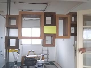 GC Aménagement 客廳書櫃 木頭 Wood effect