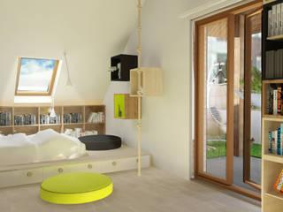 Pokój na poddaszu dla 11 latka Nowoczesny pokój dziecięcy od Jankowska Design Nowoczesny