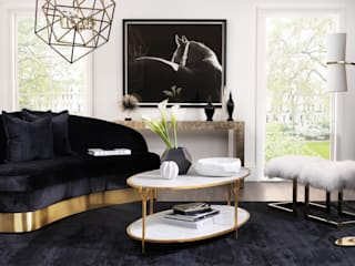 SS16 Style Guide - Refined Monochrome Collection - Living Room LuxDeco SoggiornoDivani & Poltrone