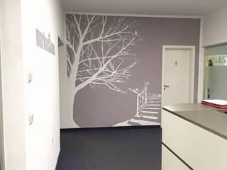 Estudios y despachos de estilo minimalista de Wandgestaltung Graffiti Airbrush von Appolloart Minimalista