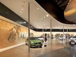 Mercedes Messestand:  Messe Design von EGGER Wood-based materials