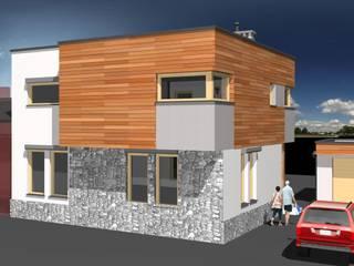 Zupełna metamorfoza budynku mieszkalngo w Strzemieszycach Wielkich: styl , w kategorii  zaprojektowany przez Architekt Marek Majewski
