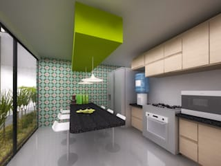 Cocinas de estilo moderno de Molcajete Arquitectura Interiores Diseño Moderno
