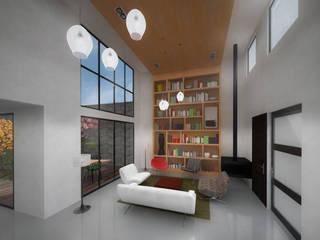 Livings de estilo moderno de Molcajete Arquitectura Interiores Diseño Moderno