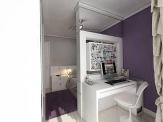 Dormitorio menina Quarto infantil moderno por Débora Pagani Arquitetura de Interiores Moderno