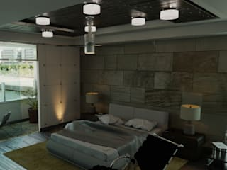 FyA Arquitectos Modern style bedroom Stone Brown
